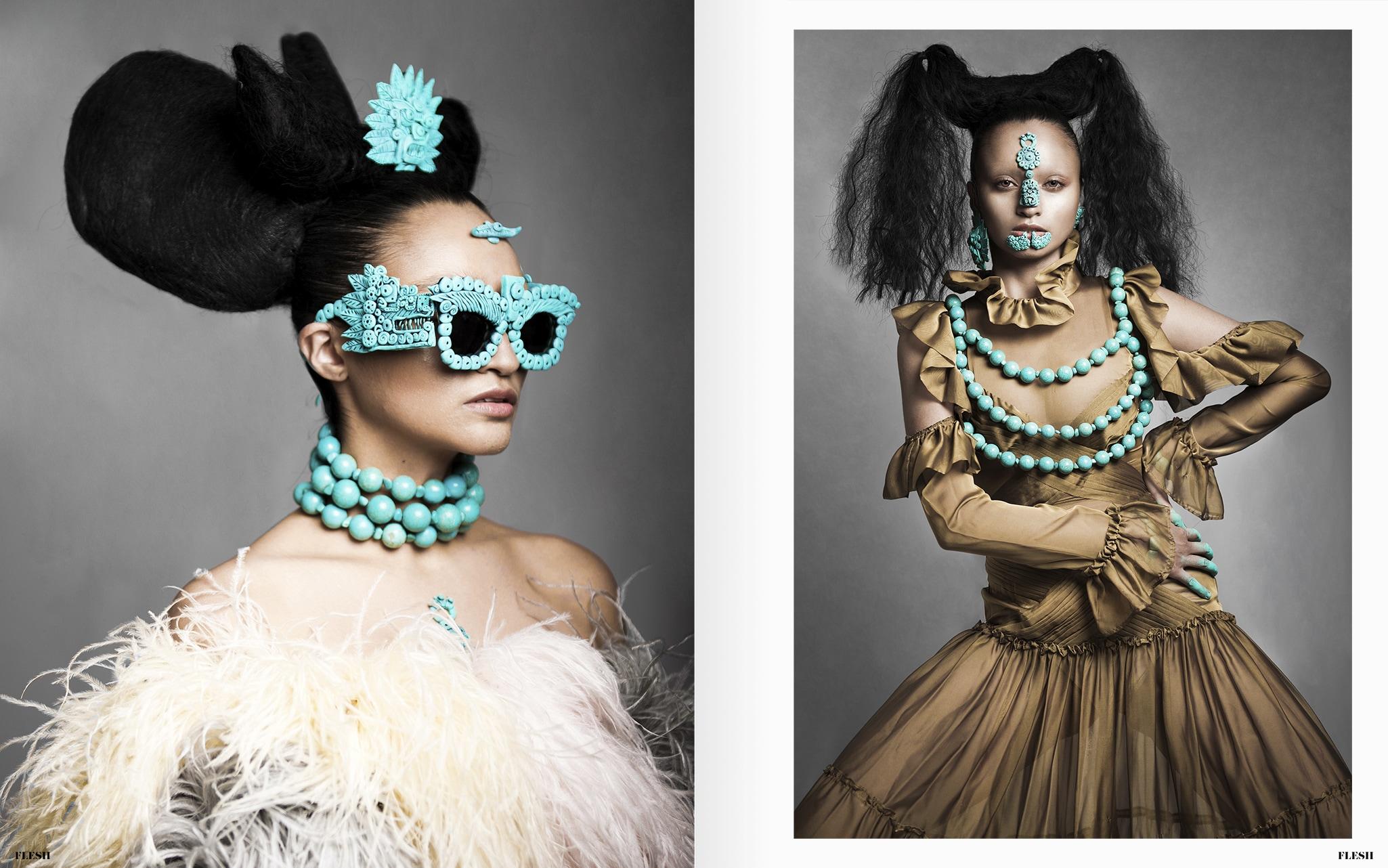 METZTLI - Fashion Editorial - FLESH Magazine